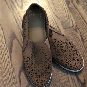 NWOT Aerin brand size 9.5 leather slip ons!